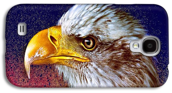 Abstract Digital Mixed Media Galaxy S4 Cases - Eagle Galaxy S4 Case by Mark Taylor
