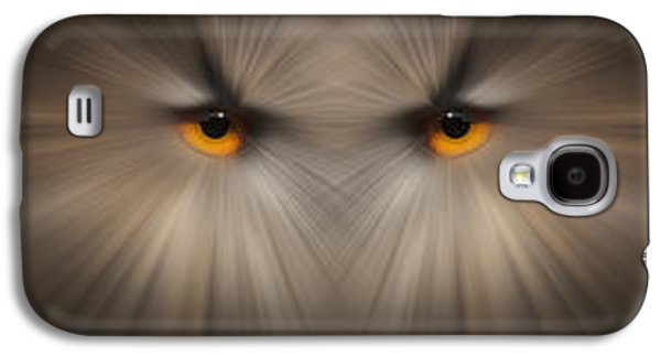 Abstract Nature Galaxy S4 Cases - Eagle Owl Eye Triptych Galaxy S4 Case by Andy Astbury