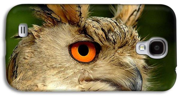 Birding Photographs Galaxy S4 Cases - Eagle Owl Galaxy S4 Case by Photodream Art