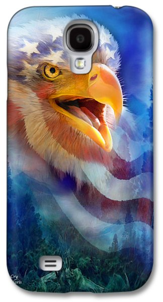 Eagle Mixed Media Galaxy S4 Cases - Eagles Cry Galaxy S4 Case by Carol Cavalaris
