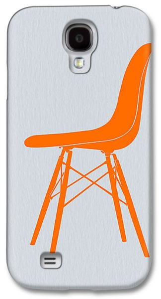 Chair Galaxy S4 Cases - Eames Fiberglass Chair Orange Galaxy S4 Case by Naxart Studio