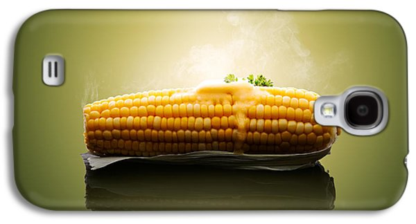 Gradient Galaxy S4 Cases - Ear of Corn with hot melting butter Galaxy S4 Case by Johan Swanepoel