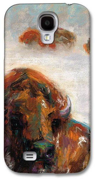 Landmarks Pastels Galaxy S4 Cases - Early Morning Snow Galaxy S4 Case by Frances Marino