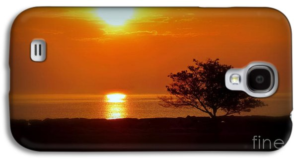Beach Landscape Galaxy S4 Cases - Early Morning Sunrise On A Silhouetted Beach Galaxy S4 Case by Kay Novy