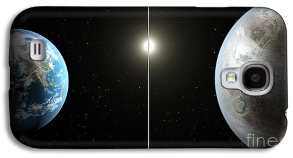 Terra Firma Galaxy S4 Cases - Earth And Exoplanet Kepler-452b Galaxy S4 Case by Science Source