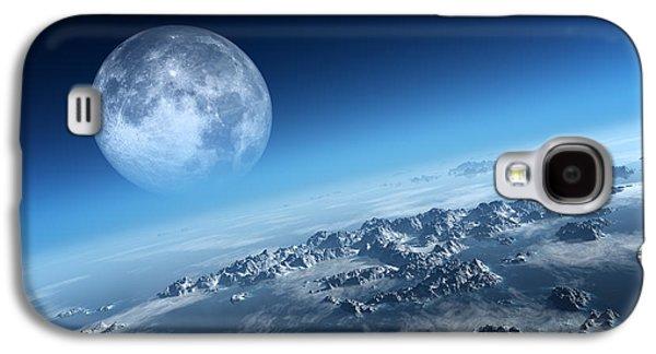 Haze Galaxy S4 Cases - Earth icy ocean aerial view Galaxy S4 Case by Johan Swanepoel