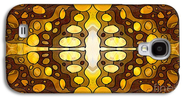 Earth Tones Drawings Galaxy S4 Cases - Earthly Awareness Abstract Organic Artwork by Omaste Witkowski Galaxy S4 Case by Omaste Witkowski