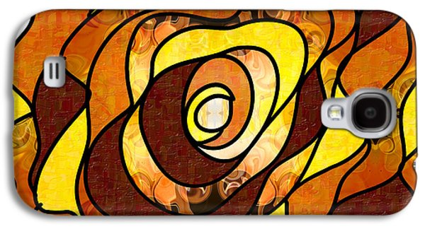 Earth Tones Drawings Galaxy S4 Cases - Earthly Dimensions Abstract Organic Art by Omaste Witkowski Galaxy S4 Case by Omaste Witkowski