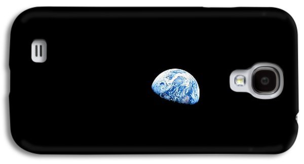 Awareness Galaxy S4 Cases - Earthrise Over Moon, Apollo 8 Galaxy S4 Case by Nasa