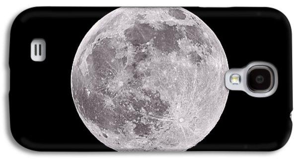 Astronomy Galaxy S4 Cases - Earths Moon Galaxy S4 Case by Steve Gadomski