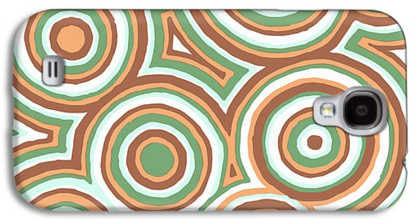 Earth Tones Drawings Galaxy S4 Cases - Earthy Drops Galaxy S4 Case by Jill Lenzmeier