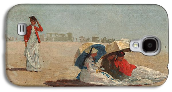 East Hampton Beach Long Island Galaxy S4 Case by Winslow Homer