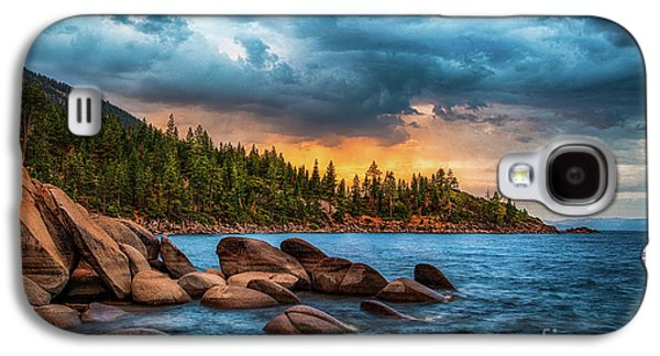 Rocks Galaxy S4 Cases - Eastern Glow at Sunset Galaxy S4 Case by Anthony Bonafede