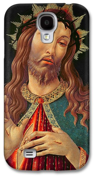 Blessings Paintings Galaxy S4 Cases - Ecce Homo or The Redeemer Galaxy S4 Case by Botticelli