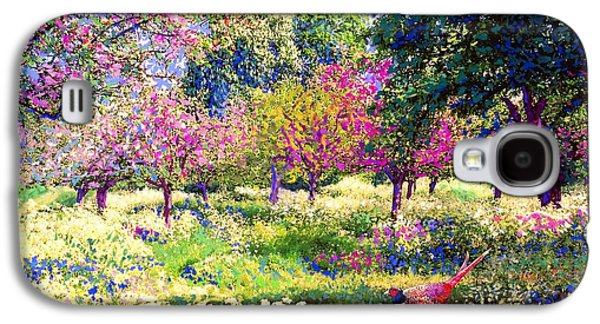 Echoes From Heaven, Spring Orchard Blossom And Pheasant Galaxy S4 Case by Jane Small