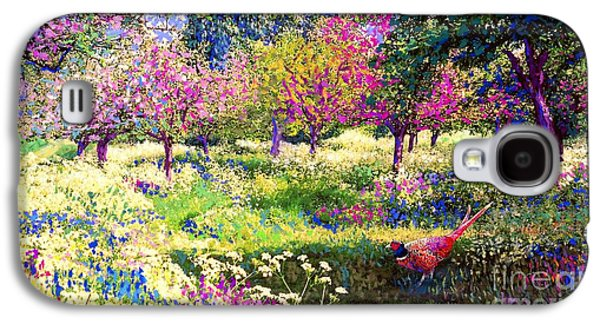 Cherry Blossoms Paintings Galaxy S4 Cases - Echoes from Heaven Galaxy S4 Case by Jane Small
