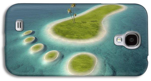 Eco Footprint Shaped Island Galaxy S4 Case by Johan Swanepoel