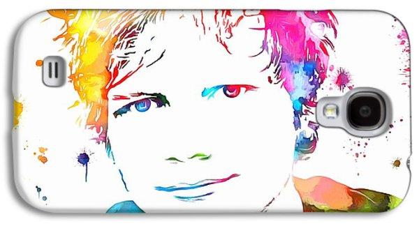 Ed Sheeran Paint Splatter Galaxy S4 Case by Dan Sproul
