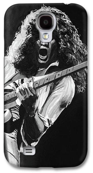 Eddie Van Halen - Black And White Galaxy S4 Case by Tom Carlton