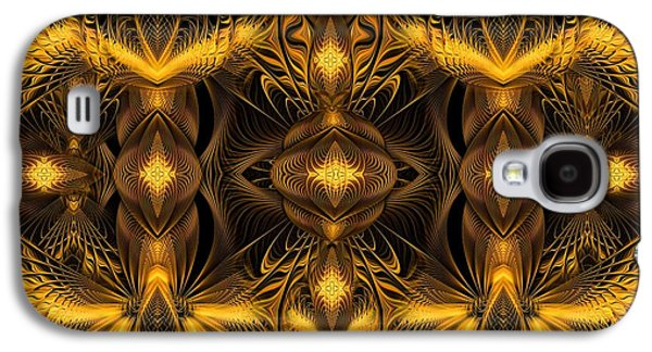 Fractal Pastels Galaxy S4 Cases - Eden Galaxy S4 Case by Gayle Odsather