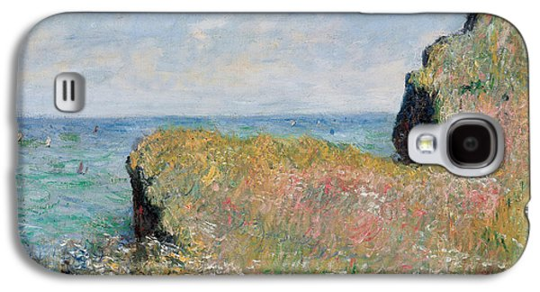 Edge Of The Cliff Pourville Galaxy S4 Case by Claude Monet