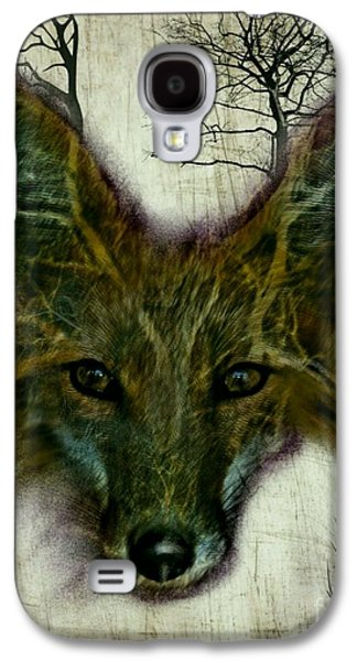 Wild Life Drawings Galaxy S4 Cases - Edgy Fox Galaxy S4 Case by Craig Williams