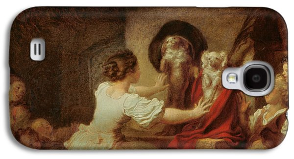 Education Paintings Galaxy S4 Cases - Education is All Galaxy S4 Case by Jean-Honore Fragonard