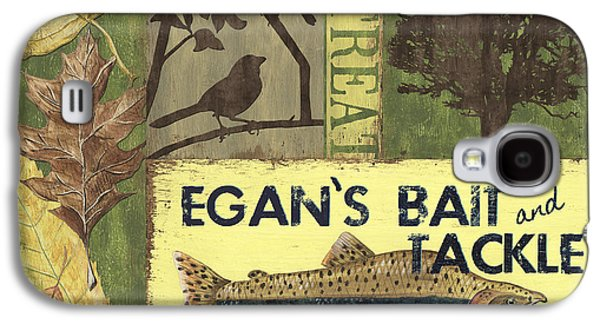 Wilderness Paintings Galaxy S4 Cases - Egans Bait and Tackle Lodge Galaxy S4 Case by Debbie DeWitt