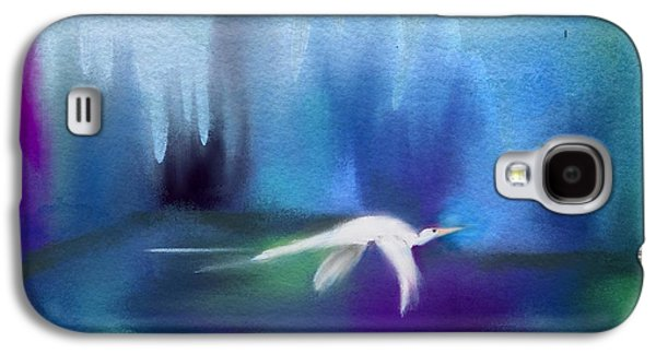 Abstract Landscape Galaxy S4 Cases - Egret Wonderland Galaxy S4 Case by Frank Bright