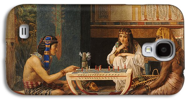 Egyptian Chess Players Galaxy S4 Case by Sir Lawrence Alma-Tadema