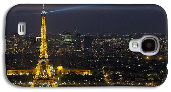 Tower Galaxy S4 Cases - Eiffel Tower at Night Galaxy S4 Case by Sebastian Musial