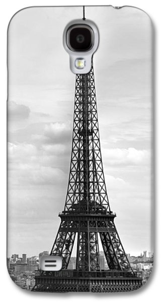 Eiffel Tower Black And White Galaxy S4 Case by Melanie Viola