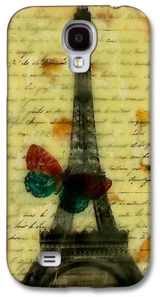 Eiffel Tower Memory Encaustic Galaxy S4 Case by Bellesouth Studio