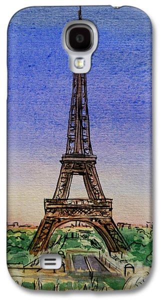 Eiffel Tower Paris France Galaxy S4 Case by Irina Sztukowski