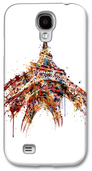 Eiffel Tower Watercolor Galaxy S4 Case by Marian Voicu