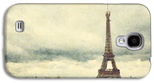 Watercolour Art Galaxy S4 Cases - Eiffel Tower Watercolour Galaxy S4 Case by Jane Rix
