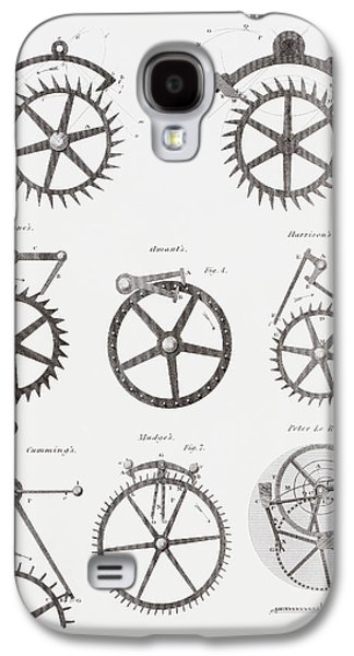 Eight Different Escapement Systems By Galaxy S4 Case by Vintage Design Pics