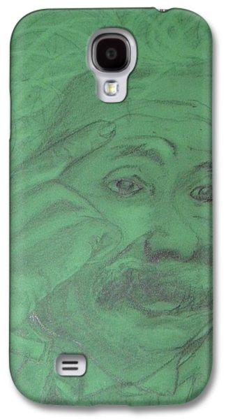 Einstein Drawings Galaxy S4 Cases - Einstein Galaxy S4 Case by Manuela Constantin