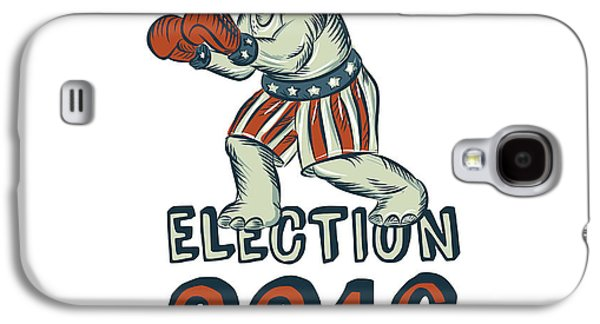 Boxer Galaxy S4 Cases - Election 2016 Republican Elephant Boxer Etching Galaxy S4 Case by Aloysius Patrimonio