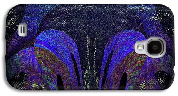 Abstract Digital Digital Galaxy S4 Cases - Electric Blues Galaxy S4 Case by Joshua Moore