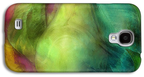 Pears Paintings Galaxy S4 Cases - Electric Pear Company Galaxy S4 Case by Mindy Sommers
