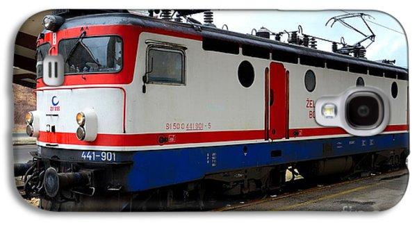 Transportation Photographs Galaxy S4 Cases - Electric rail locomotive of Bosnian Railways Sarajevo Station Bosnia Hercegovina Galaxy S4 Case by Imran Ahmed