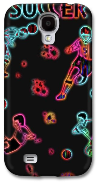 Electric Soccer Poster Galaxy S4 Case by Dan Sproul