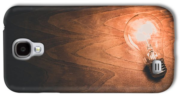 Light Bulb Galaxy S4 Cases - Electricity concept Galaxy S4 Case by Ondrej Supitar