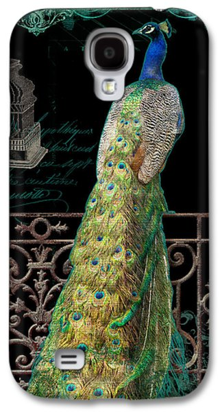 Elegant Peacock Iron Fence W Vintage Scrolls 4 Galaxy S4 Case by Audrey Jeanne Roberts