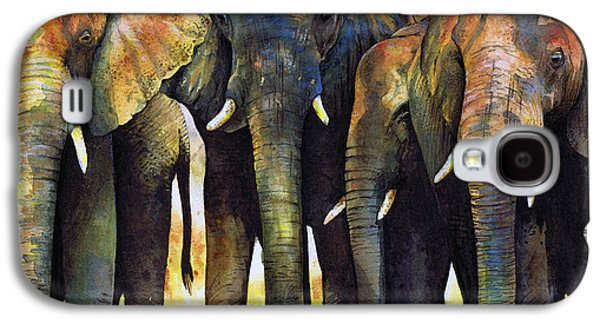 Animal Galaxy S4 Cases - Elephant Herd Galaxy S4 Case by Paul Dene Marlor
