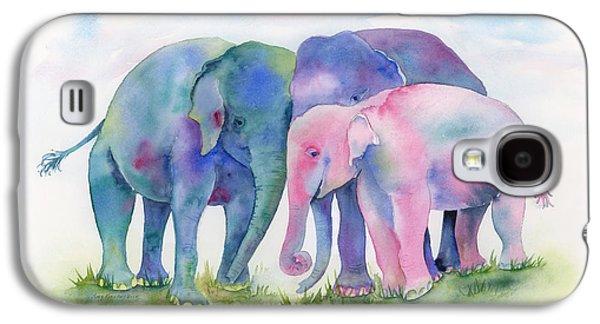 Elephant Hug Galaxy S4 Case by Amy Kirkpatrick