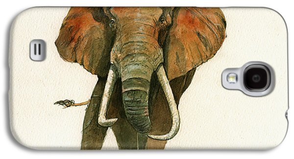 Elephant Painting           Galaxy S4 Case by Juan  Bosco