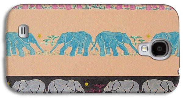 Elephant Pattern Galaxy S4 Case by John Keaton