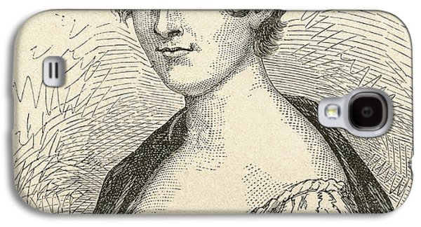 Charlotte Drawings Galaxy S4 Cases - Elisabeth Charlotte Pauline De Meulan Galaxy S4 Case by Ken Welsh